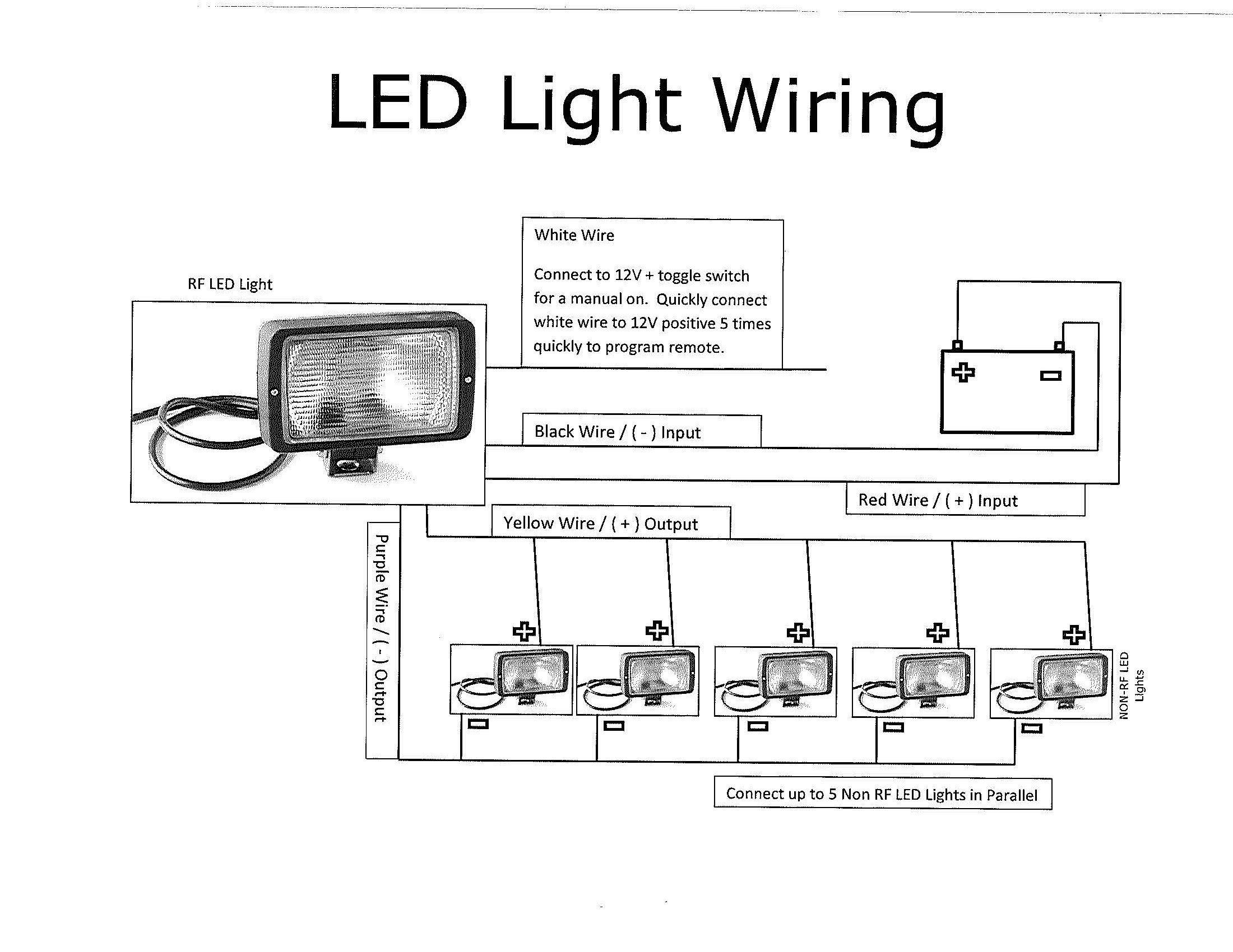 Wiring Diagram For A Light : Trailer work lights thunderstone manufacturing