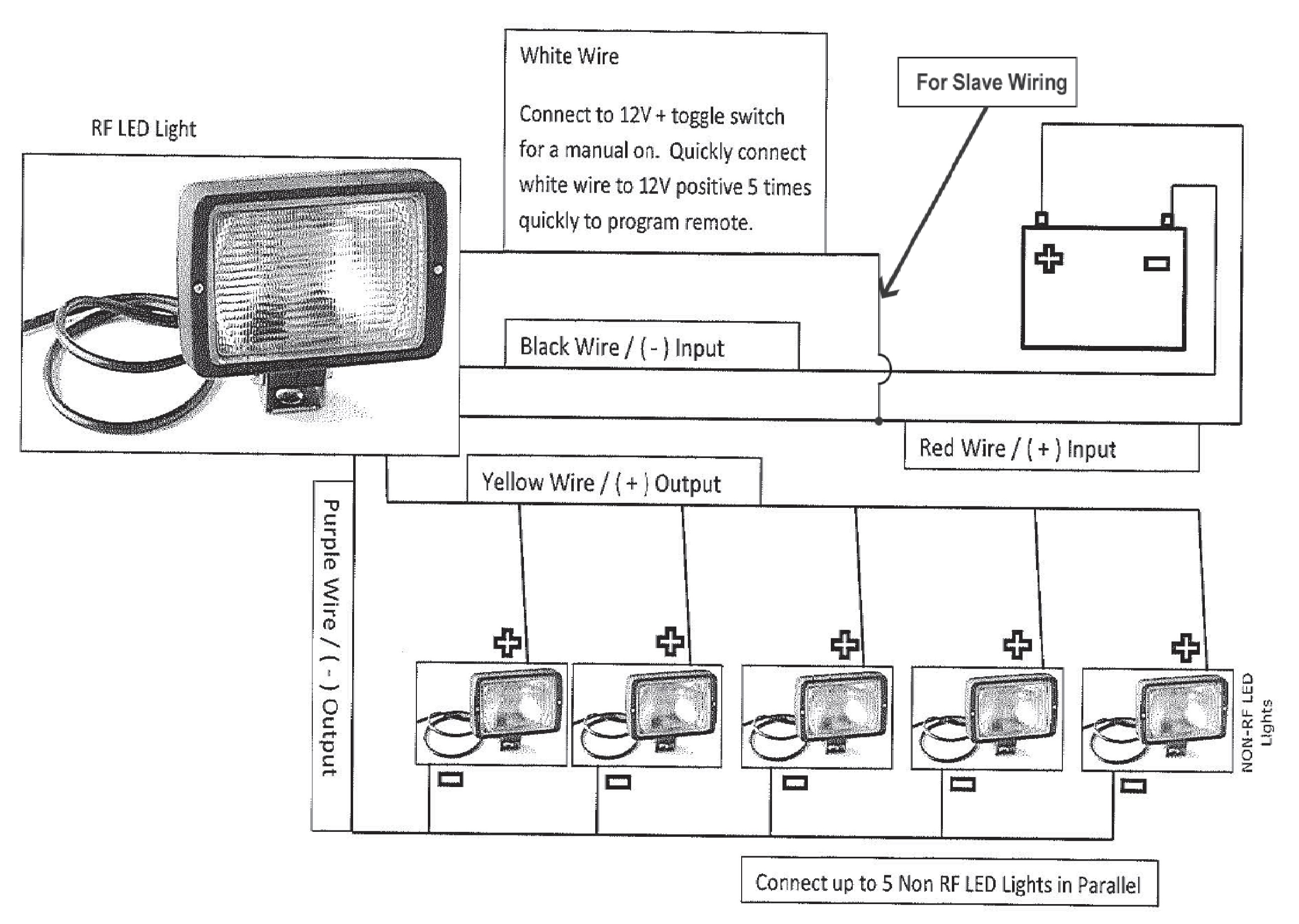 trailer work lights thunderstone manufacturing, llcthunderstone Multiple Light Wiring Diagram
